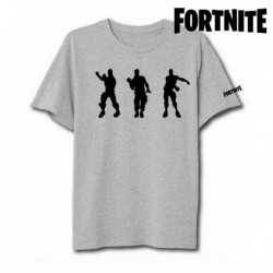 Unisex tričko - Fortnite 75062 - krátký rukáv - šedé