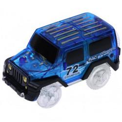 Náhradní autíčko ke svítící autodráze - šířka 6 cm - modré