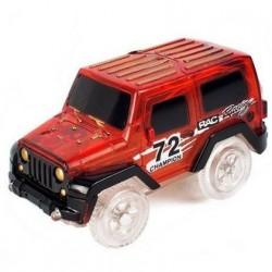 Náhradní autíčko ke svítící autodráze - šířka 6 cm - červené