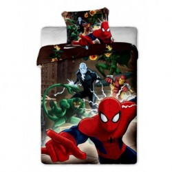 Bavlněné povlečení - Spiderman - hnědé - 140x200 - Jerry Fabrics