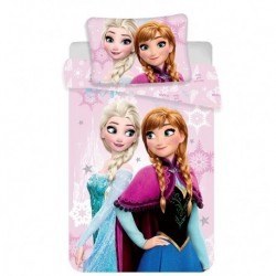 Bavlněné povlečení do postýlky - Ledové Království - Baby Pink - 100x135 - Jerry Fabrics