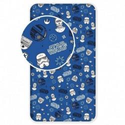 Bavlněné prostěradlo - Star Wars - Blue Galaxy - 90x200 - Jerry Fabrics