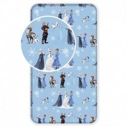 Bavlněné prostěradlo - Ledové Království - Winter - 90x200 - Jerry Fabrics