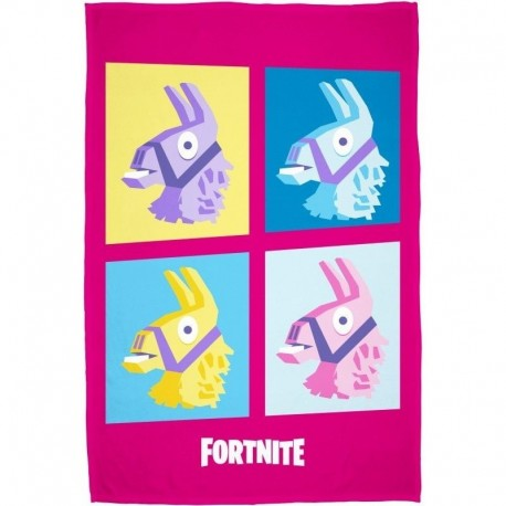 Fleecová deka - Fortnite Lama - růžová - 150x100 cm - Halantex