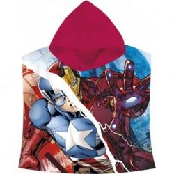 Dětské pončo s kapucí - Avengers - 120x60 cm