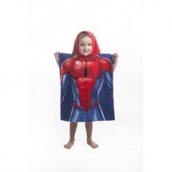 Dětské pončo s kapucí - Spiderman - modré - 115x50 cm - Jerry Fabrics