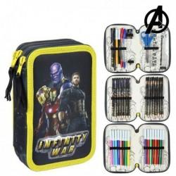 Třípatrový školní penál s vybavením - The Avengers 78650