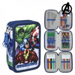Třípatrový školní penál s vybavením - The Avengers 78773