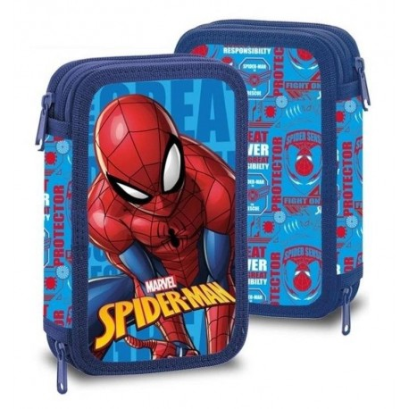Dvoupatrový penál s vybavením - Spiderman