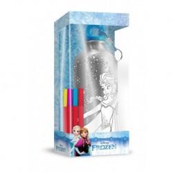 Hliníková lahev na pití k domalování - Ledové Království