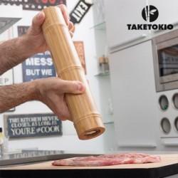 Bambusový mlýnek na sůl a pepř - TakeTokio