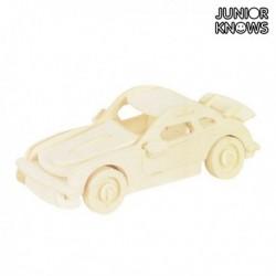Dřevěné skládací autíčko - Junior Knows