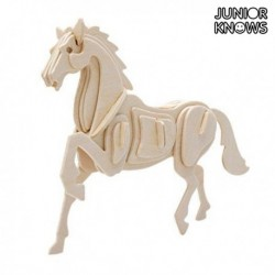 Dřevěné 3D puzzle - Zvířátka na statku - Junior Knows