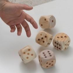 Dřevěné házecí kostky - 5 ks