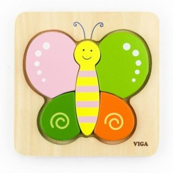 Dřevěné puzzle pro nejmenší - Motýl - Viga