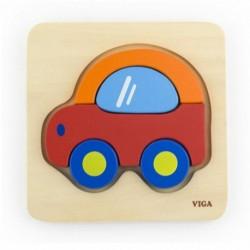 Dřevěné puzzle pro nejmenší - Auto - Viga