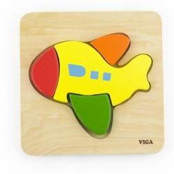 Dřevěné puzzle pro nejmenší - Letadlo - Viga