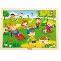 Dětské dřevěné puzzle - Jaro - Viga