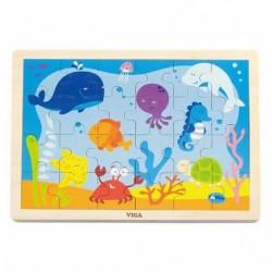 Dětské dřevěné puzzle - Oceán - Viga