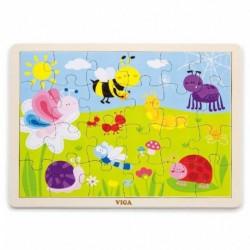 Dětské dřevěné puzzle - Park - Viga
