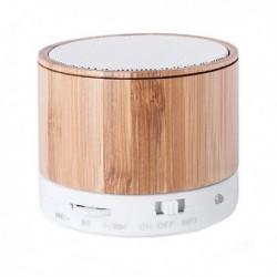 Bezdrátový bluetooth reproduktor z bambusu USB FM 3W