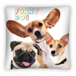 Povlak na polštářek - Funny Dog - 40x40 cm - Detexpol