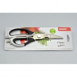 Kuchyňské nůžky 7v1 - Banquet - černo-bílé