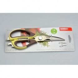 Kuchyňské nůžky 7v1 - Banquet - hnědo-žluté