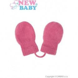 Dětské zimní rukavice pro holky - New Baby - růžové