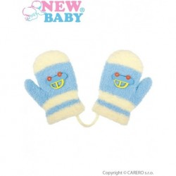 Dětské zimní rukavice pro kluky - New Baby - světle modré