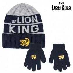 Čepice a rukavice - Lví král - šedá