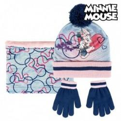 Čepice, rukavice a šála - Minnie Mouse - šedá