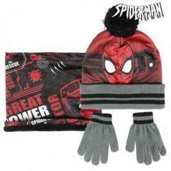 Čepice, rukavice a šála - Spiderman - černá