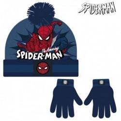 Čepice a rukavice - Spiderman - námořnická modrá