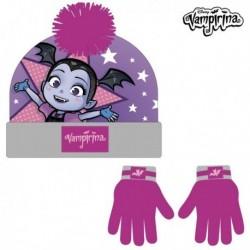Čepice a rukavice - Vampirina - fuchsiová