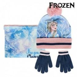 Čepice, rukavice a šála Ledové Království - modrá/růžová