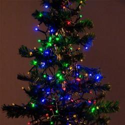 Vánoční osvětlení - barevné - 192 LED