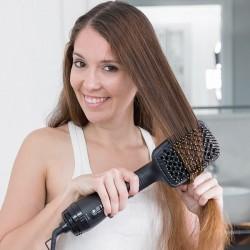 Elektrický kartáč na vlasy - zlatočerný - 1000W - InnovaGoods