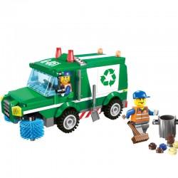 Dětská stavebnice - Popelářský vůz - 196 dílů