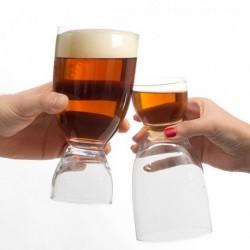Sklenice na pivo s panákem