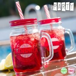 Uzavíratelná sklenice s brčkem - Cocktail Bar - Th3 Party