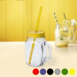 Uzavíratelná sklenice s brčkem 145494 - 500 ml