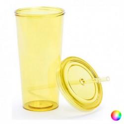 Plastový kelímek s brčkem - 144874 - 750 ml