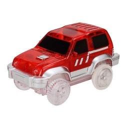 Náhradní autíčko ke svítící autodráze - šířka 7 cm - červené