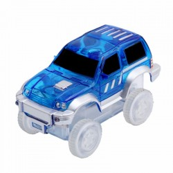Náhradní autíčko ke svítící autodráze - šířka 7 cm - modré