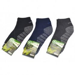 Pánské bambusové termo kotníkové ponožky - mix barev - 3 páry - Pesail