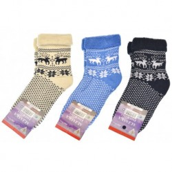 Dámské termo zdravotní ponožky - mix barev - 3 páry - Aljaška