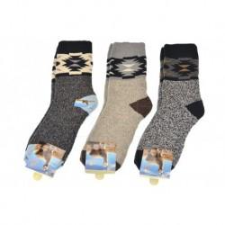 Pánské hřejivé ponožky - mix barev - 3 páry - AMZF