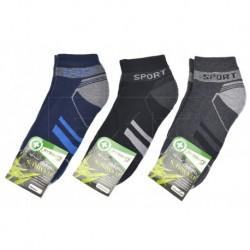 Pánské bambusové termo kotníkové ponožky na sport - mix barev - 3 páry - Pesail