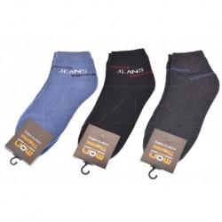 Pánské kotníkové termo ponožky Jeans - mix barev - 3 páry - Man Thermo